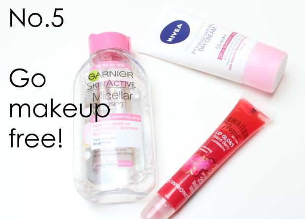 Go makeup free!