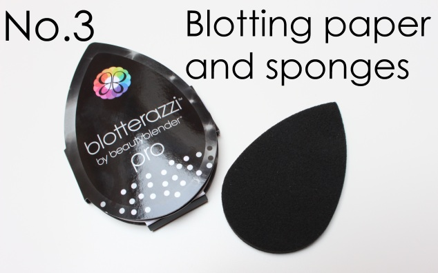 Blotting paper and sponges