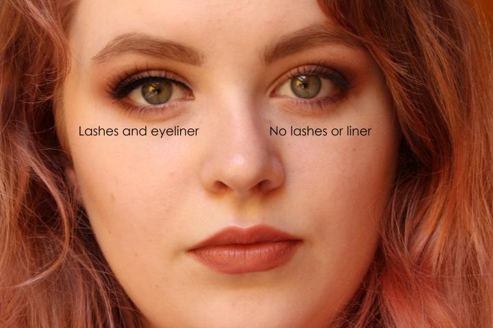 Lashes vs No lashes